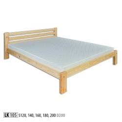 Łóżko sosnowe LK105